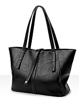 cheap -Women Bags PU Shoulder Bag Zipper for Casual Office & Career All Season Brown Purple Black