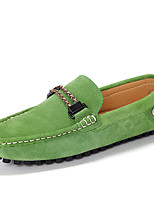 cheap -Men's Shoes Cowhide Spring Fall Moccasin Loafers & Slip-Ons for Casual Office & Career Black Gray Red Green Blue