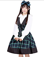 Sweet Lolita Dress Princess Lolita Women's Girls' Skirt Cosplay Green Sleeveless Sleeveless Knee Length
