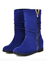 Недорогие -Для женщин Обувь Нубук Весна Осень Удобная обувь Оригинальная обувь Модная обувь Ботинки Плоские Заостренный носок Ботинки Заклепки для