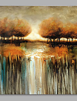 cheap -Hand-Painted Landscape Square,Modern Canvas Oil Painting Home Decoration One Panel