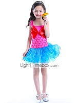 cheap -The Little Mermaid One Piece Dress Kid Halloween Festival / Holiday Halloween Costumes Blue Pink Mermaid