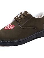 economico -Da donna Scarpe PU (Poliuretano) Autunno Comoda Fodera di pelliccia Sneakers Piatto Punta tonda per Casual Nero Marrone Verde