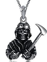 Недорогие -Муж. Череп Tiger европейский Рок Массивные украшения Ожерелья с подвесками , Нержавеющая сталь Ожерелья с подвесками , Маскарад Для клуба