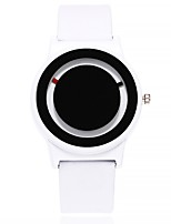 cheap -Women's Fashion Watch Wrist watch Chinese Quartz Large Dial Leather Band Casual Minimalist Black White