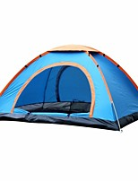 cheap -3-4 persons Oxfords Screen Tent Cabin Tent Beach Tent Canopy Tent Single Camping Tent One Room Automatic Tent Rain-Proof for Camping /