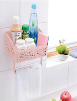 Bathroom Shelf Neoclassical PP Bathroom Shelf Plastics Surface Mounted
