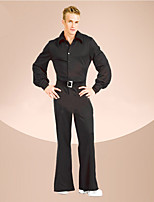 cheap -Outfits Vintage Inspired Disco Costume Men's Outfits Costume Black Vintage Cosplay Polyster Long Sleeves Puff/Balloon Briefs