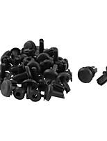 Недорогие -30 шт 9мм х 5мм черный пластик заклепки бампер крыло подкладку отделка панели зажимы застежка