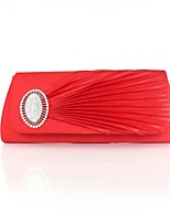 cheap -Women Bags Silk Evening Bag Pearl Detailing for Event/Party All Season Red Silver