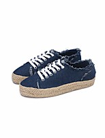 cheap -Women's Shoes Canvas Spring Fall Comfort Sneakers Low Heel Round Toe for Casual Dark Blue
