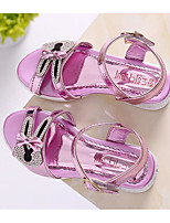 cheap -Girls' Shoes Leatherette Spring Fall Comfort Sandals for Casual Pink Silver Gold