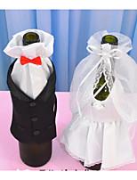 Wedding groom bride wedding dress wine glass set of champagne wine toasting wine bottle decoration