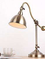 abordables -Simple Ajustable Lámpara de Mesa Para Metal 220v Amarillo Oscuro