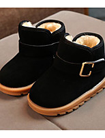 cheap -Boys' Shoes Suede Winter Fall Comfort First Walkers Combat Boots Boots Booties/Ankle Boots for Casual Brown Fuchsia Black