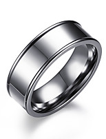 cheap -Men's Band Rings , Simple Casual Fashion Stainless Steel Circle Jewelry Formal Work