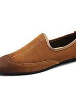 Недорогие -Для мужчин обувь Замша Весна Осень Удобная обувь Мокасины и Свитер для Повседневные Черный Коричневый
