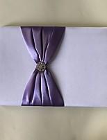 Недорогие -Атлас Романтика Фантастика СвадьбаWithСтразы Бант 1 коробка Гостевая книга