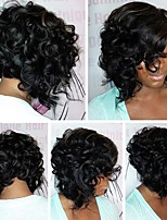 Short Bob Curly  Human Hair Lace Front Wig Brazilian Virgin Human Hair Wigs With Baby Hair For Women