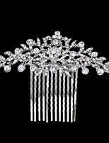 cheap -Women's Hair Comb,Floral Basic Floral Rhinestone All Seasons Silver