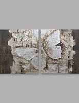 Недорогие -Ручная роспись Цветочные мотивы/ботанический Modern Холст Hang-роспись маслом Украшение дома 2 панели