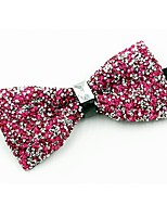 cheap -Men's Cotton Bow Tie,Vintage Party Crystal/Rhinestone All Seasons Fuchsia