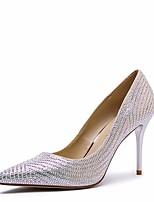 economico -Da donna Scarpe PU (Poliuretano) Primavera Autunno Comoda Tacchi A stiletto per Casual Oro Nero