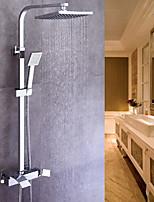 preiswerte -Moderne Mittellage Handdusche inklusive Keramisches Ventil Einzigen Handgriff Zwei Löcher Chrom , Duscharmaturen