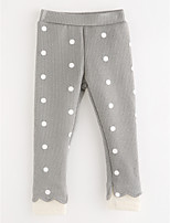 cheap -Girls' Solid Polka Dot Pants,Cotton Fall Simple Blushing Pink Navy Blue Gray