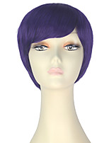 cheap -Women Synthetic Wig Short Straight Purple Lolita Wig Party Wig Halloween Wig Carnival Wig Cosplay Wig Natural Wigs Costume Wig