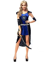 cheap -Vintage Ancient Greece Costume Women's Skirt Blue Vintage Cosplay Polyster Short Sleeves Cap Short / Mini