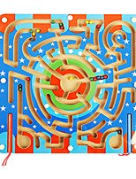 cheap -Wooden Puzzles Maze Magnetic Maze Maze Toys Flat Shape Romance Stress and Anxiety Relief Decompression Toys Classic Wooden Kids Adults' 1