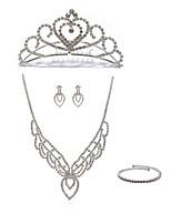 Недорогие -Жен. Ожерелья-цепочки Свадебные комплекты ювелирных изделий Стразы Искусственный бриллиант Сплав Геометрической формы Мода европейский