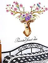 Недорогие -абстракция 3D Наклейки Простые наклейки Декоративные наклейки на стены,Бумага Украшение дома Наклейка на стену Стена