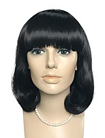 cheap -Women Synthetic Wig Short Water Wave Natural Black Natural Hairline Bob Haircut With Bangs Celebrity Wig Cosplay Wig Natural Wigs Costume