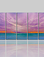 cheap -Canvas Print Classic Rustic Modern,Five Panels Canvas Vertical Print Wall Decor Home Decoration