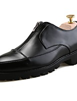 cheap -Men's Shoes PU Spring Fall Comfort Loafers & Slip-Ons Mid-Calf Boots for Casual Black