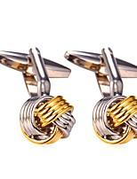 cheap -Cufflink Tie Bar Tie Clip  Brass Platinum Plated Gold Plated Leisure Costume Jewelry Cufflinks Party Evening Party Men's