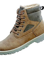 cheap -Men's Shoes Synthetic Microfiber PU Winter Fall Comfort Combat Boots Boots for Casual Khaki Green Black