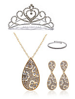 cheap -Women's Pendant Necklace Bridal Jewelry Sets Rhinestone Imitation Diamond Alloy Drop Fashion European Wedding Party Body Jewelry 1