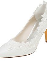 preiswerte -Damen Schuhe Stretch - Satin Frühling Herbst Pumps Hochzeit Schuhe Stöckelabsatz Spitze Zehe Kristall Perle für Party & Festivität Kleid