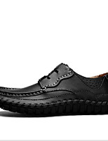cheap -Men's Shoes Leatherette Spring Fall Comfort Oxfords for Casual Brown Yellow Black