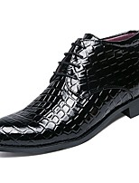 cheap -Men's Shoes PU Winter Formal Shoes Comfort Oxfords for Office & Career Black
