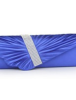 cheap -Women Bags Silk Evening Bag Buttons for Event/Party All Season Royal Blue Silver White