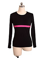 cheap -Figure Skating Top Women's Girls' Ice Skating Top Fuchsia Spandex Stretchy Performance Practise Skating Wear Solid Long Sleeves Ice
