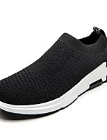 cheap -Men's Shoes Breathable Mesh PU Tulle Spring Summer Comfort Light Soles Loafers & Slip-Ons Walking Shoes Hollow-out for Casual Black/White
