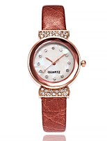 cheap -Women's Fashion Watch Chinese Quartz Imitation Diamond Leather Band Casual Minimalist Black White Blue Red Brown Pink Purple Rose