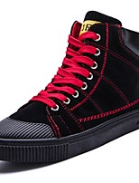 cheap -Men's Shoes Synthetic Microfiber PU Winter Light Soles Sneakers for Casual Black/Red Black/White