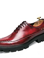cheap -Men's Shoes Synthetic Microfiber PU Spring Fall Driving Shoes Formal Shoes Loafers & Slip-Ons for Casual Party & Evening Red Black Gold