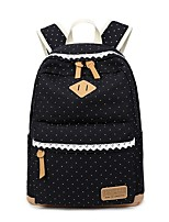 cheap -Women Bags Canvas Backpack Pattern / Print for Casual Outdoor All Season Blushing Pink Black Blue